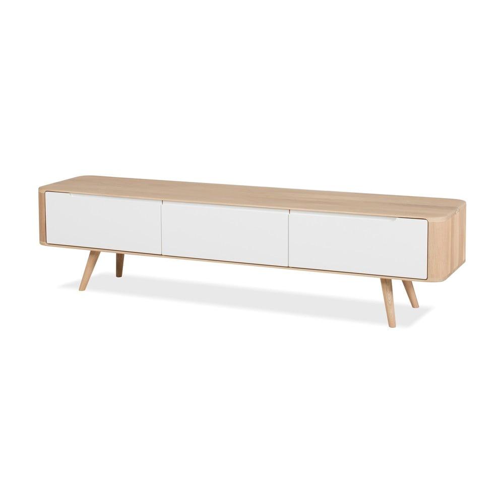 Dębowa szafka pod TV Gazzda Ena, 180x42x45 cm