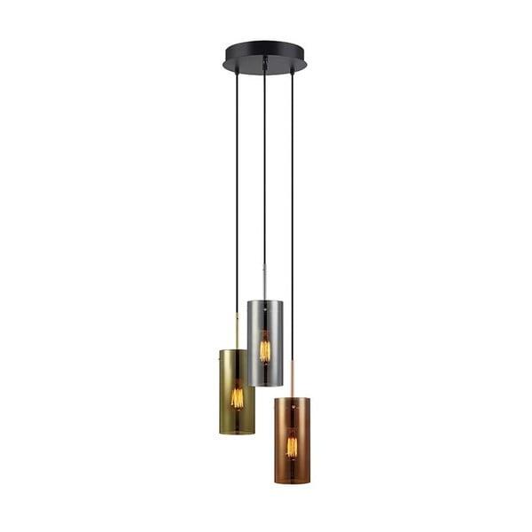 Lampa wisząca w kolorze chromowanego metalu/złota/mosiądzu Markslöjd Storm Three
