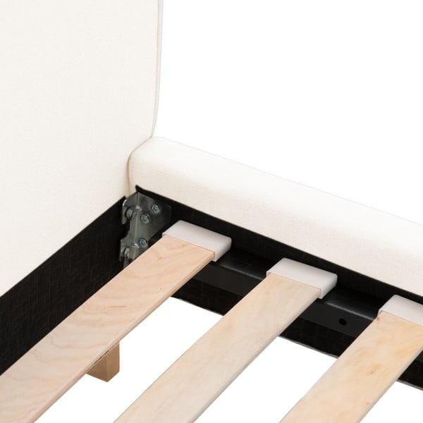 Kremowe łóżko z naturalnymi nóżkami Vivonita Kent, 140x200 cm