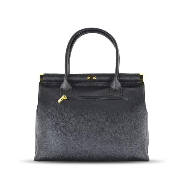 Skórzana torebka Carla, czarna