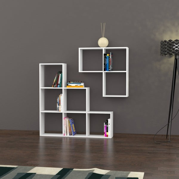 Biblioteczka Portion 120x120 cm White
