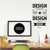 Naklejka ścienna Design by Steve Jobs, czerń