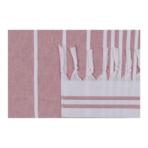 Różowy ręcznik plażowy Fouta, 170x100cm