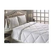 Biała pikowana narzuta na łóżko dwuosobowe Marvella Quilt Double Size, 195x215 cm