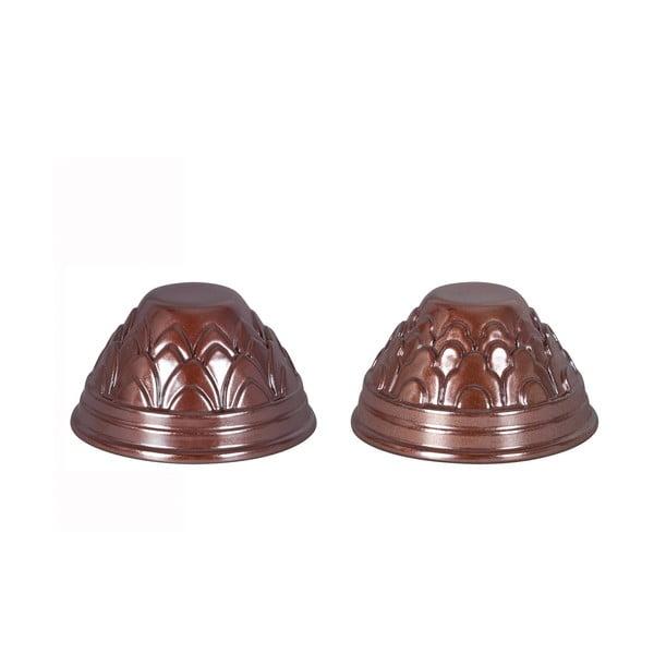 Dwie formy do pieczenia babeczek Caramel, brązowe