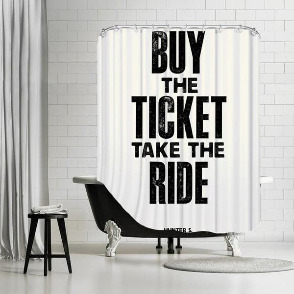 Zasłona prysznicowa Buy The Ticket, 180x180 cm