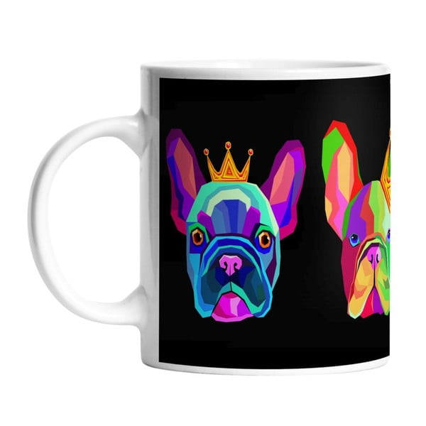 Ceramiczny kubek King Dog, 330 ml