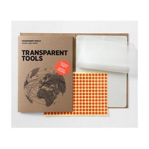 Zapasowe przezroczyste kartki do mapy Transparent World