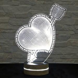 Lampa 3D stołowa In Love