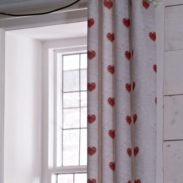 Zasłona Doily Hearts, 168x183 cm