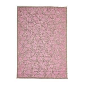 Różowy wytrzymały dywan Webtapetti Fiore, 135 x 190 cm