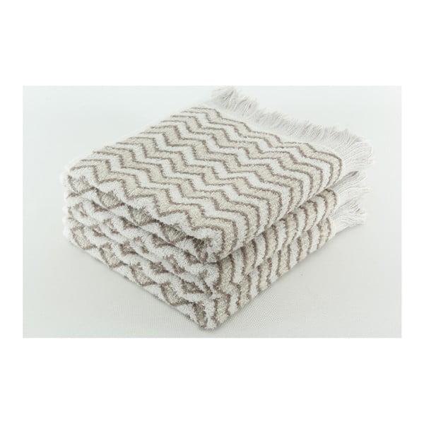 Zestaw 3 ręczników Lora Titanium, 50x100 cm