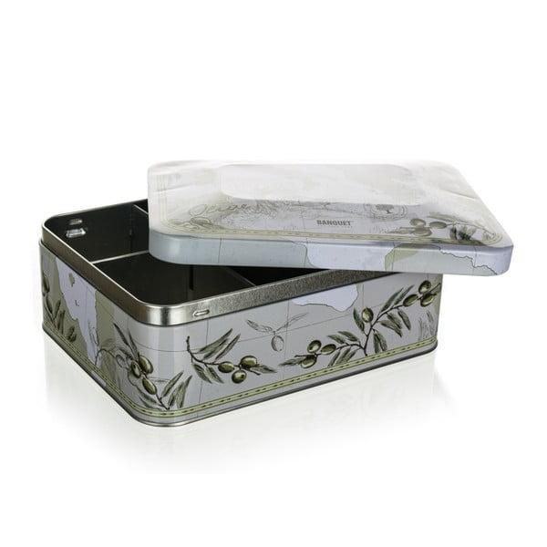 Blaszane pudełko na herbatę Banquet Olives