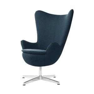 Granatowy fotel obrotowy My Pop Design Indiana