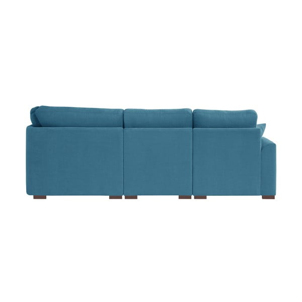 Sofa narożna Jalouse Maison Irina, prawy róg, niebieska