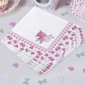 Zestaw 20 papierowych serwetek Neviti Frills and Spills Large, 33x33 cm