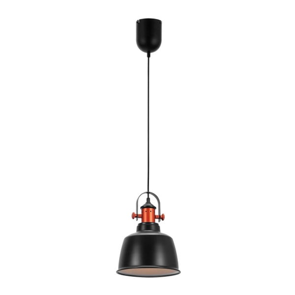 Czarna lampa wisząca Garageeight Etel