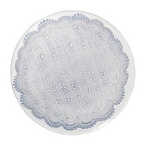Niebieski   szklany talerz deserowy Côté Table Tulle, 21cm