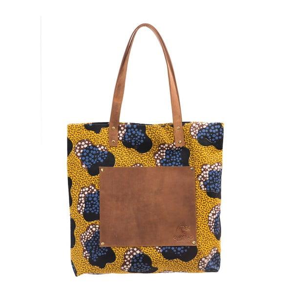 Żółta duża torba skórzana vintage O My Bag Lou's Print