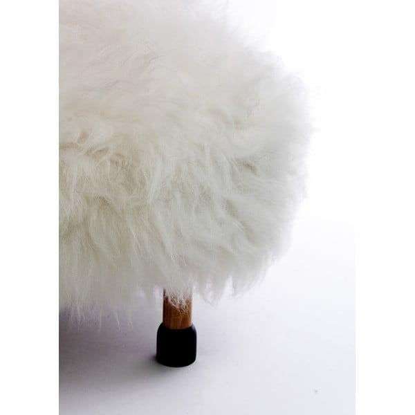 Podnóżek z owczej skóry Nia Ivory