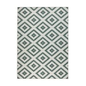 Zielono-kremowy dywan dwustronny odpowiedni na zewnątrz Bougari Bougari Malta, 120x170 cm