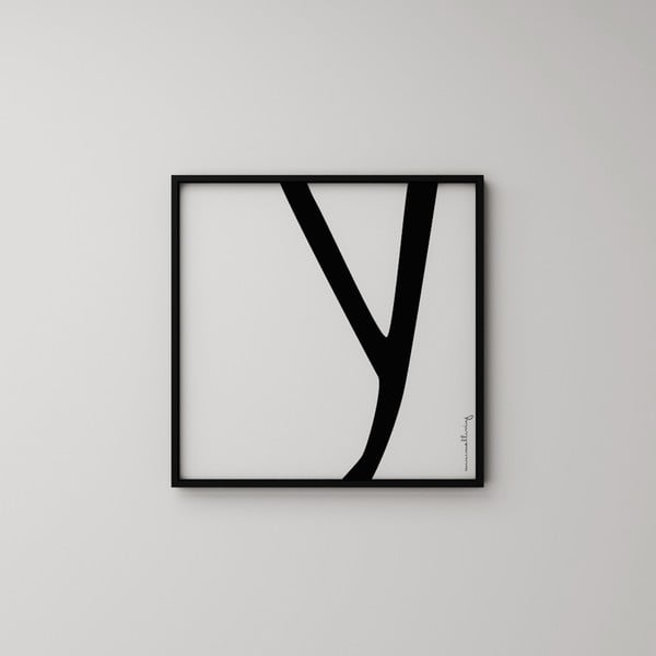 Plakat Litera Y, 50x50 cm