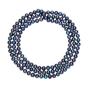 Niebieski   perłowy naszyjnik Chakra Pearls, 90 cm