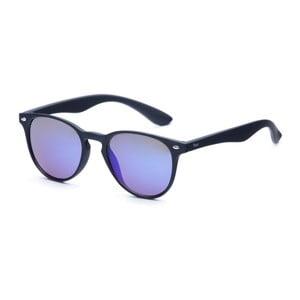 Okulary przeciwsłoneczne z czarnymi oprawkami i niebieskimi szkłami David LocCo Globetrotter Snazzy