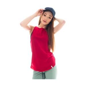 Czerwona koszulka bawełniana Lull Loungewear Garachico, rozm.M