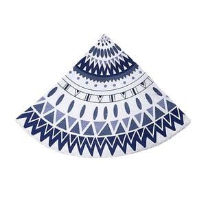 Okrągły ręcznik plażowy Ble Blue