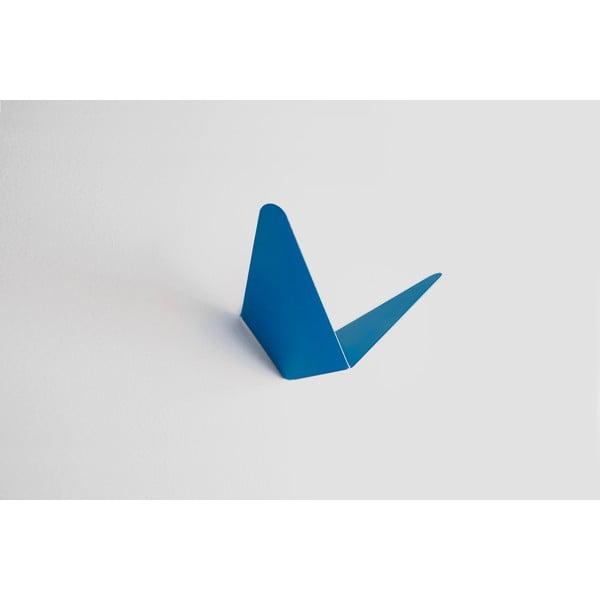 Wieszak z półeczką Butterfly, niebieski, 8,9x8,3 cm