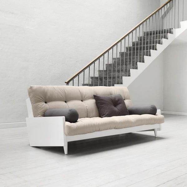 Sofa rozkładana Karup Indie White/Vision/Gris