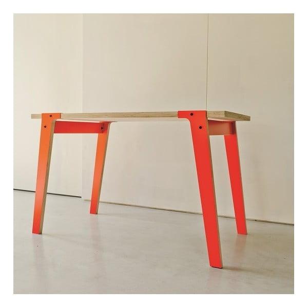 Pomarańczowy stół/biurko rform Switch, blat 150x75 cm