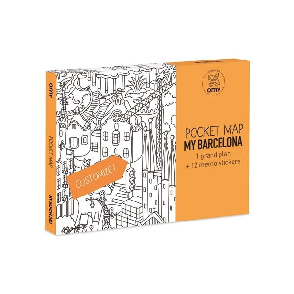 Kieszonkowa mapa-kolorowanka Barcelone