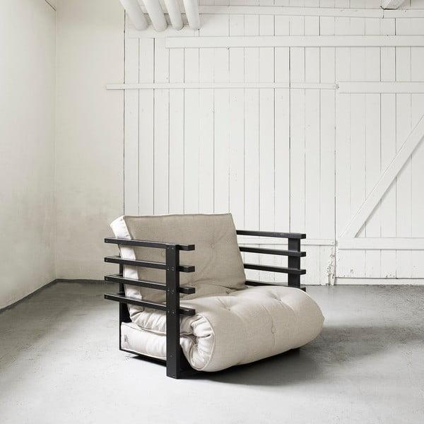 Fotel rozkładany Karup Funk Black/Natural