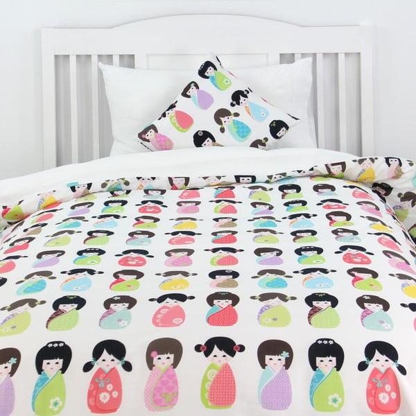 Poszwa na kołdrę i poduszkę Kokeshi 140x200 cm