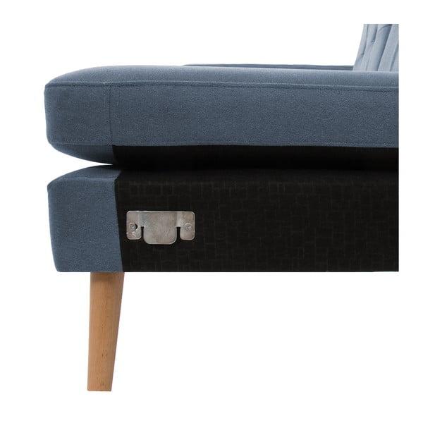 Narożnik prawostronny VIVONITA Sondero Light Blue, naturalne nogi