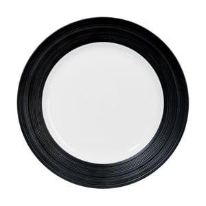 Talerz Stripes Dark Black, 29 cm
