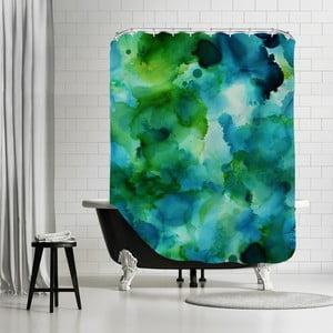 Zasłona prysznicowa Blue Lagoon Portrait, 180x180 cm