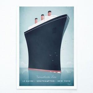 Plakat Travelposter Cruise Ship, A2