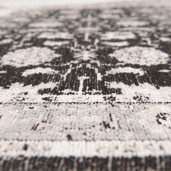Dywan Chenille, 70x110 cm, czarno-szary