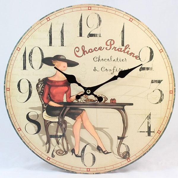 Drewniany zegar Choce Praline