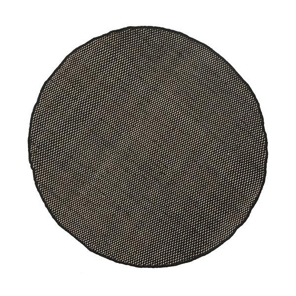 Wełniany dywan Asko Black, 150 cm