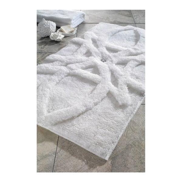 Zestaw 2 dywaników łazienkowych Diana White Swarovski, 60x100 cm a 55x60 cm