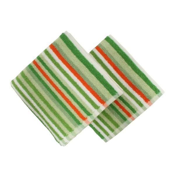 Zestaw 2 ręczników Cizgi Green, 40x80 cm