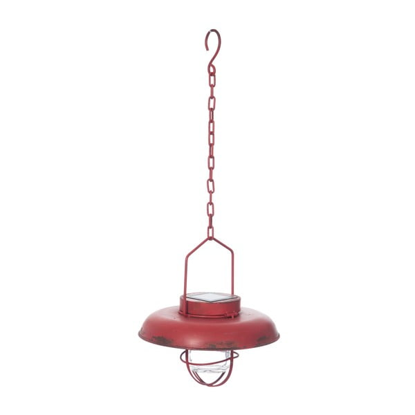 Światło sufitowe Red Lamp z baterią słoneczną