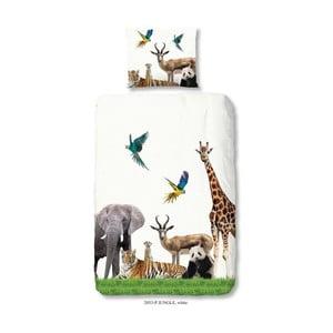 Dziecięca pościel jednoosobowa z czystej bawełny Muller Textiels Jungle, 140x200 cm