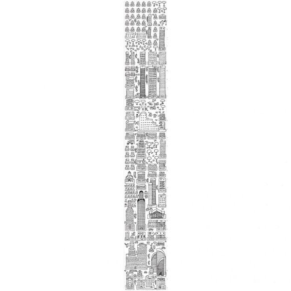 Tapeta do kolorowania Metropolis, 45x300 cm