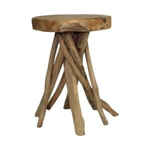 Taboret z drewna tekowego HSM Collection Branch