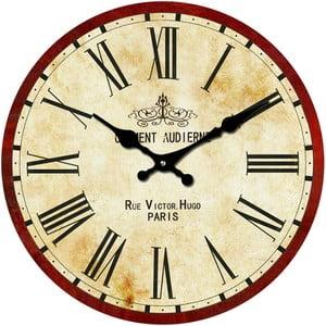 Szklany zegar Rue Victor, 30 cm